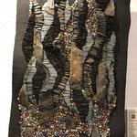 Mosaik mit organischen Formen