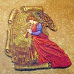 """Гриль-бар """"Мирный"""". Фреска """"Ангел"""" по мотиву работы Эдварда Берн-Джонса."""