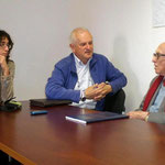 Tania Zanuttini con Ferruccio Tassin e Boris Pahor