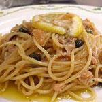ツナとレモンのペペロンチーノ