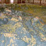 Das Kärnten Relief, der Hochobir im Vordergrund