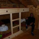 """""""gemütliche"""" Lager in der Hütte"""