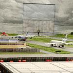 der flugplatz in Betrieb