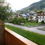 Blick aus dem Hotelfenster in Sillian