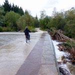 Radweg durchs Wasser!!!