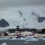 die englische Antarktisstation
