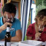 Lise und Harald bei der Weinverkostung
