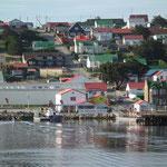 die Hauptstadt der Falklandinseln - Stanley
