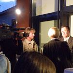 unser Bürgermeister beim Fernsehinterview
