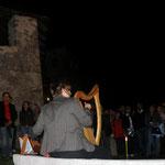 an der Harfe