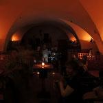 Manfred Sumper & Saso Debelec im Cafe