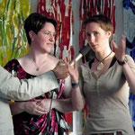 Die Künstlerinnen Eva Sacherer & Gabi Wisternik