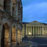 das Rathaus mit Arena