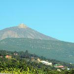 erster Blick zum Vulkan Pico de Teide 3718m