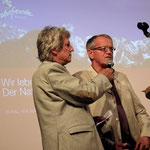 Bei der Eröfnung mit dem Vorsitzenden Franz Leitgeb