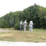 Skulptur im Kreisverkehr Hainburg