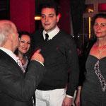 der Thalhofer mit den Gästen aus Italien