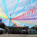 im Dorf Novo Airo - Kirchenfest