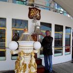 auf der königlichen Yacht Britannia