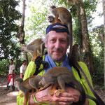 auf der Affeninsel Isla de los Micos