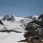 herrlicher Blick auf den Pitztaler Gletscher