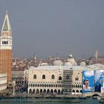 Blick von San Giorgio Maggiore auf den Marcusplatz