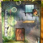 Time-out - collage sur toile, technique mixte (24x30cm-140€) © B.Dupuis