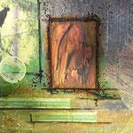 Time-out (détail) - collage sur toile, technique mixte (24x30cm-140€) © B.Dupuis