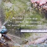 Walk in beauty (détail) - collage sur toile  techniques mixtes. (24x30 cm - 140€) ©B.Dupuis