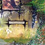 Quête de Sens (détail) - collage sur toile, techniques mixtes (41x33 cm - 230€) ©B.Dupuis
