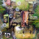 Quête de Sens - collage sur toile, techniques mixtes (41x33 cm - 230€) ©B.Dupuis