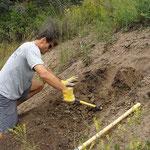 Digging Clay in Colorado Mountains