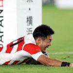 福岡選手のトライ
