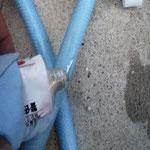 UV硬化パテ(チューブ容器)を埋める。