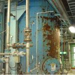 施工前のタンク 錆び劣化