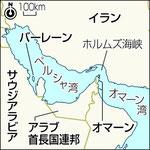 イランの対岸に敵対するサウジアラビアなど