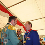 2011 Empfang des Königsordens für Patrick Wilms, links König Mario Brocker