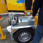 Schliesing Holzhacker mit Hydraulischem Radmotor