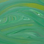 """Detailansicht """"Dschungel"""", 2018, Fluid Painting, Acrylfarbe auf Leinwand, 40x40cm   -   (c) Atelier Anne Sänger"""