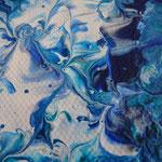 "Detailansicht ""Südsee"", 2018, Fluid Painting, Acrylfarbe auf Leinwand, 40x40cm   -   (c) Atelier Anne Sänger"