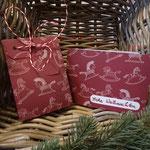 """Set (Tüte u. Karte) """"Frohe Weihnachten""""   -   (c) Atelier Anne Sänger"""