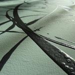 """Detailansicht """"Der große Jackson"""", 2018, Acryl- und Dispersionsfarbe auf Leinwand, 150x50cm, VERKAUFT   -   (c) Atelier Anne Sänger"""