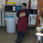 Küchenchef Joachim Pogacar hat alles im Griff