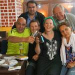 Party mit Kurden auf dem Camping in Dougabayzyt.