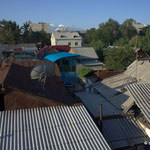 Dachterrasse des Sakura-Guesthouses