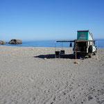 Stehplatz direkt an der Sougia Beach