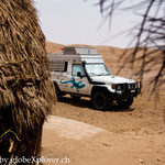 Gandi schmilzt langsam dahin in der Lut-Wüste