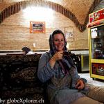 in einem traditionellen Teehaus