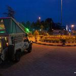 unsere Übernachtung vor einem Motel bei Asalem