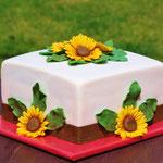 Zonnebloemen taart